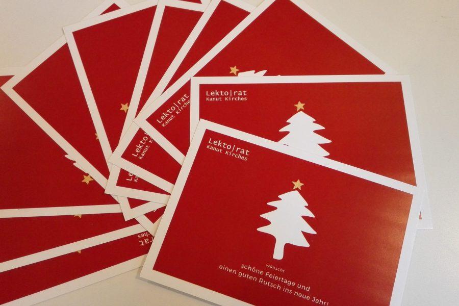 #Lektorenalltag: Weihnachtskarten