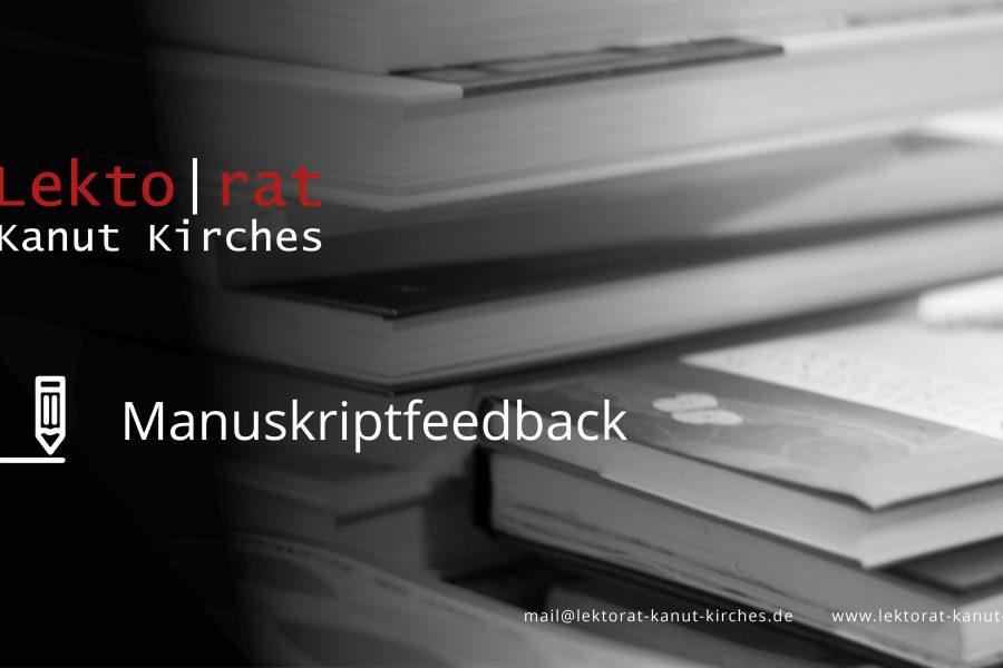 Manuskriptfeedback für Autorinnen und Autoren