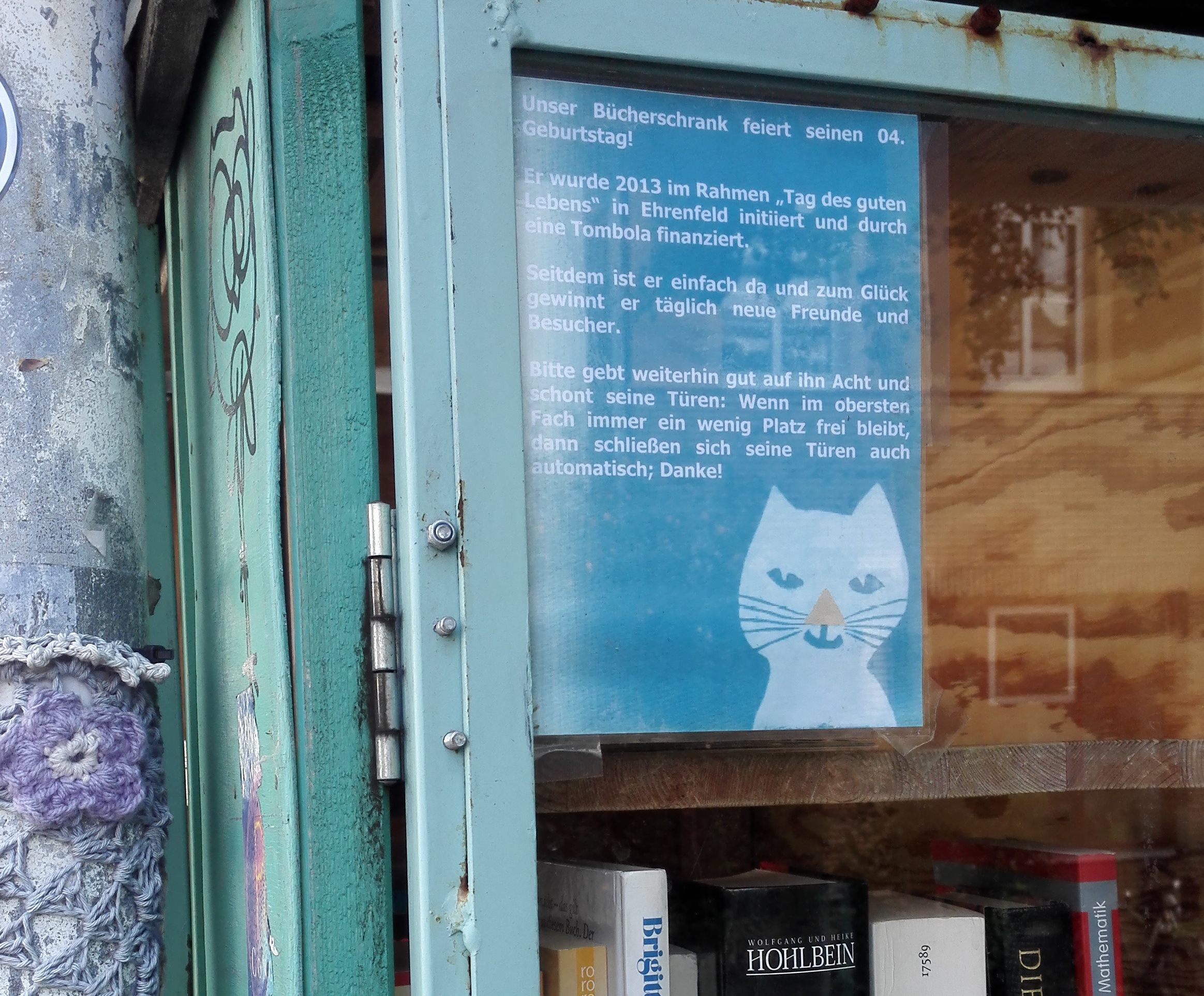 #Lektorenalltag: Bücherschrank in Köln