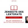 Jenseits des Lektorats: Buchtrailerproduzent Milan Grünewald im Interview